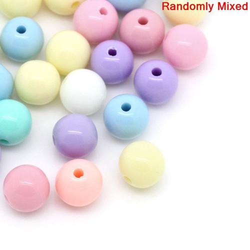 kuličky lesk/ pastel světlý /6mm/ MIX / 50ks