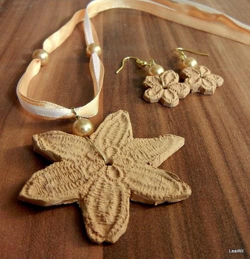 Keramické krajkové - zlaté
