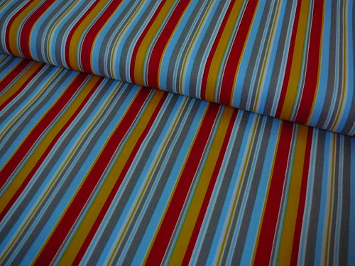 metráž barevný proužek  - dovoz 140 cm