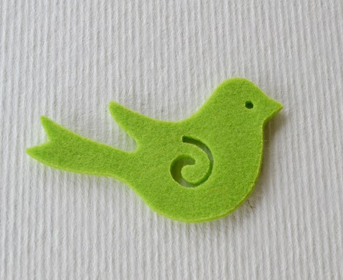 Výsek z plsti - ptáček hráškový