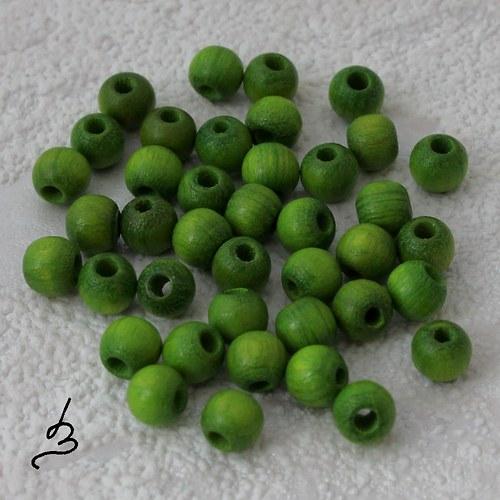 Dřevěné zelené pr. 5 mm - bal. 40 ks