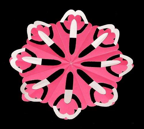 Laminovaná podložka pod hrneček - květina