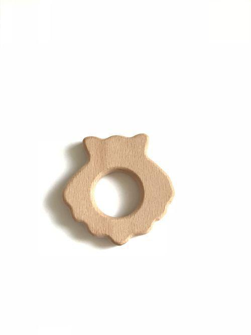 Dřevěné kousátko 70mm (1ks) - sovička I.