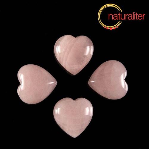 Růženín kabošon srdce 15mm