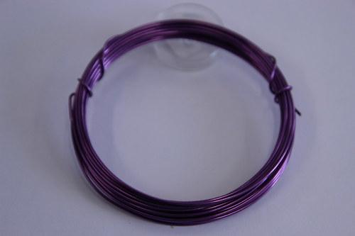 Měděný drátek 1mm - lila, návin 3,8-4m