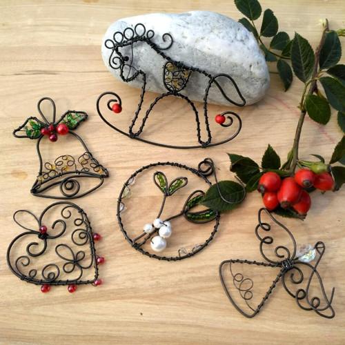 vánoční radůstky - drátované