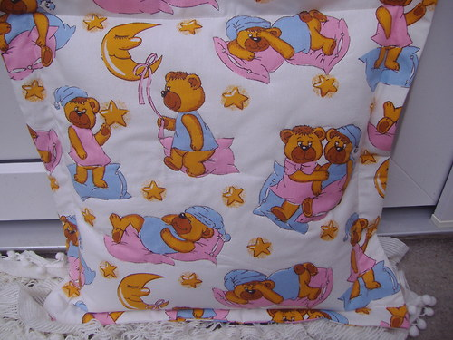 Povlak na polštář pro nejmenší -medvídkový