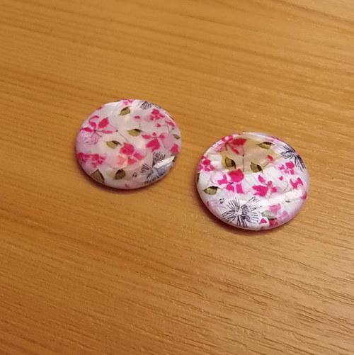 Perleťové placky 25 mm  - 2 kusy -