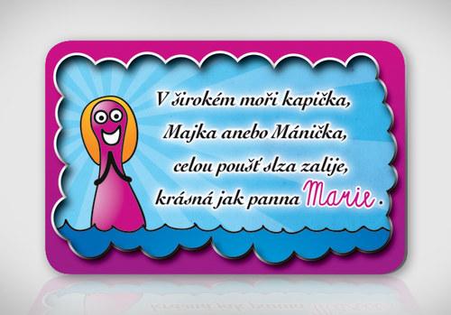 Poetická magnetka se jménem Marie