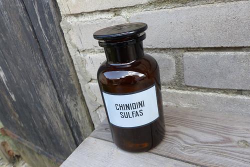 Chinidini Sulfas...lékárenská lahev