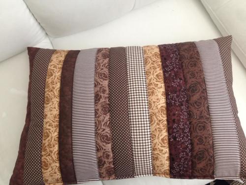 hnedé velké návleky na polštáře