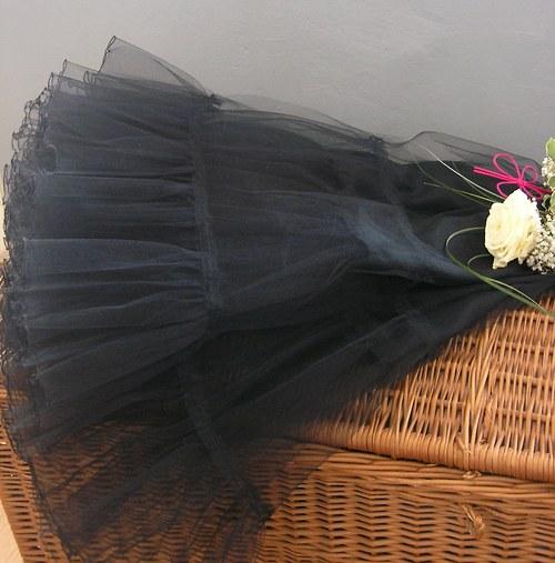 Spodnička černá dlouhá 80 cm, velký objem