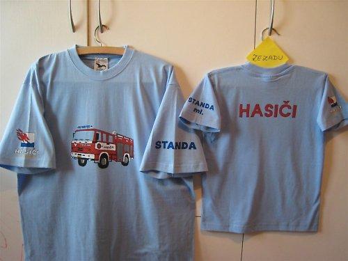 Dětské tričko s hasiči