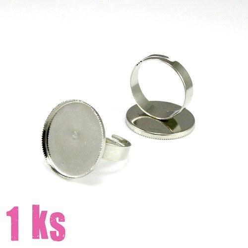 Základ na prsten platinový, lůžko 19 mm