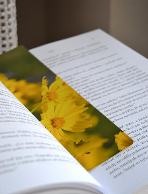 Záložka s květy