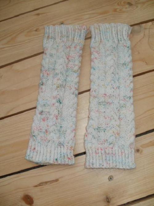 návleky na nohy - smetanové č.2