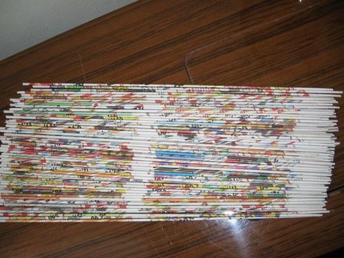 100 kusů dlouhých ruliček na pletení