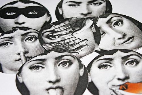 Tváře 3 kusy -nažehlovací textilní obrázky