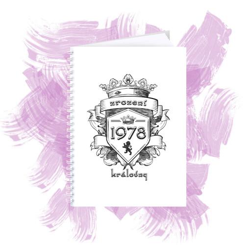 Zápisník s motivem - zrození královny 6