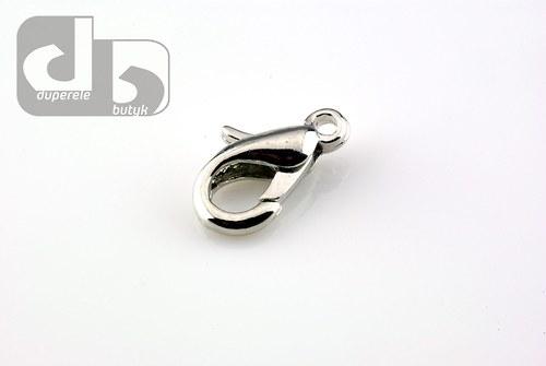 Stříbrné karabinky 10 ks/12 mm