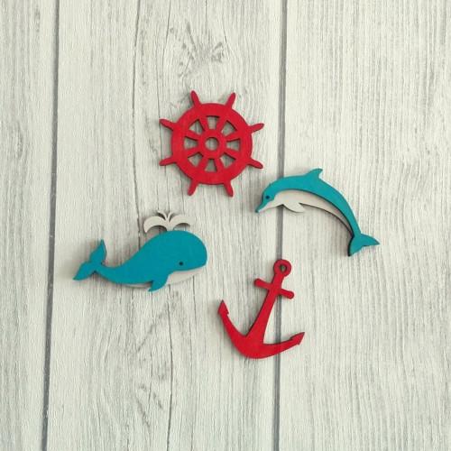 Dřevěná námořnická dekorace - malá