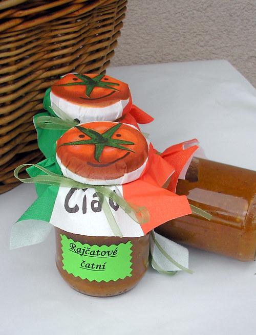 Rajčatové čatní, 350 gramů