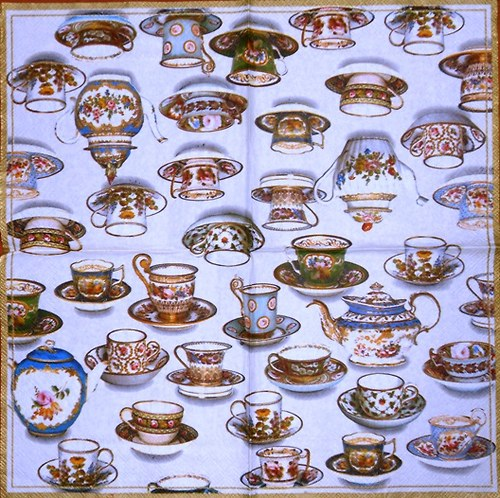 Ubrousek - čajové konvičky a šálky