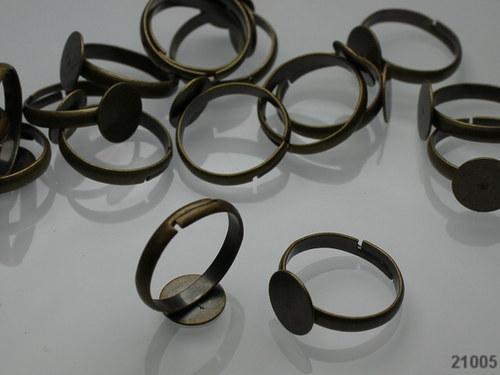 21005 Prsten základ BRONZ s lůžkem 10mm,  á 1ks