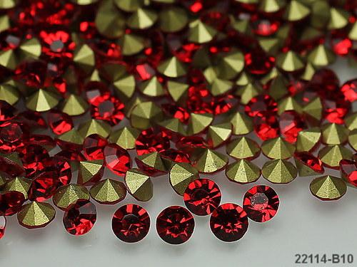 22114-B10 Kónické šaton kamínky 5mm ČERVENÉ,bal.10