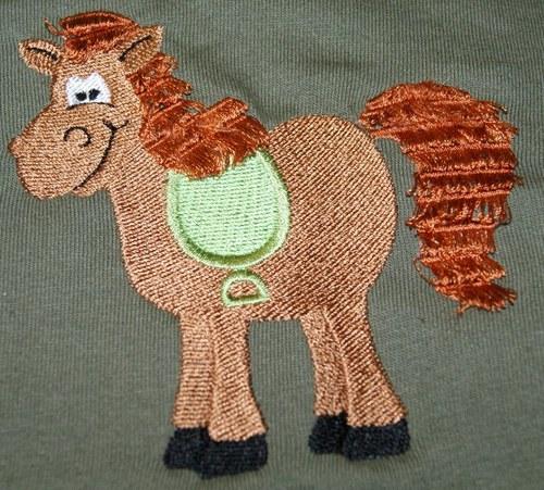 Dětské tričko s koníkem střapatým