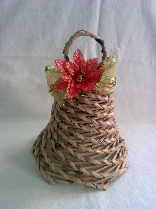 zvoneček s vánoční hvězdou