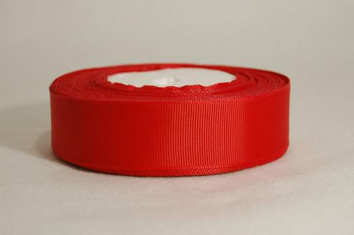 Rypsová stuha 25 mm zařívá červená