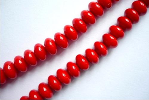Rondelky korálu - 8 x 5 mm, 2 ks