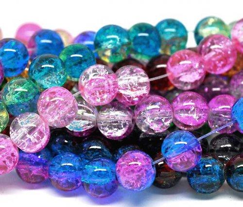 20312-? Luxusní práskané perly 8mm, bal. 100-110ks