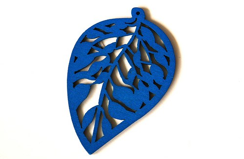 dřevěné lístečky- modré