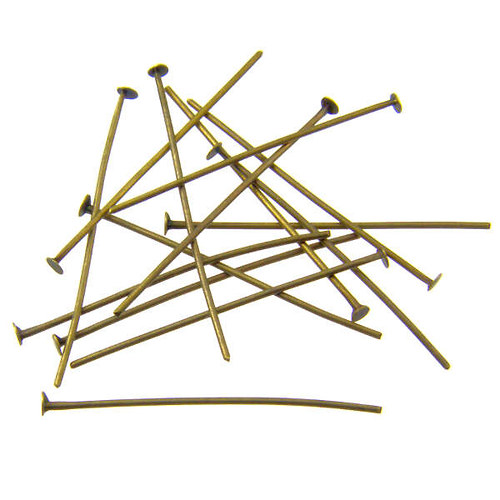 Starobronzové ketlovací nýty 3,2 cm, 50 ks