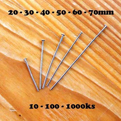 Hřebík 30mm - 10ks - Platinový