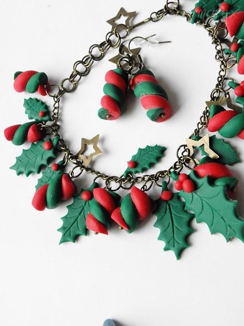 Vánoční nálada •náušnice a náramek•