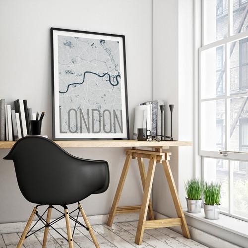 LONDÝN, 50x70cm, elegantní, světle modrý