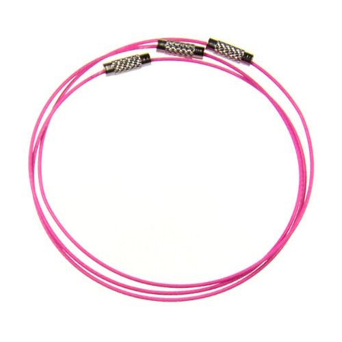 Neonově růžová náramková obruč, 1 ks