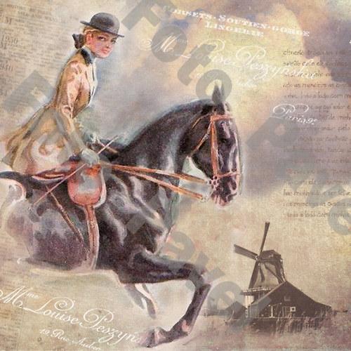Vintage motiv - jezdkyně