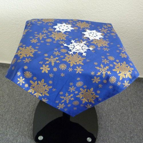 Sněhobílé Vánoce na modrém podkladu *1*