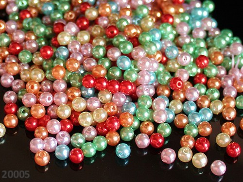 20005 Letní směs akrylových perel 8mm, bal. 20ks!