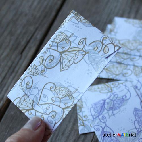 Papírové pytlíčky 10ks(5+5) - ornamenty