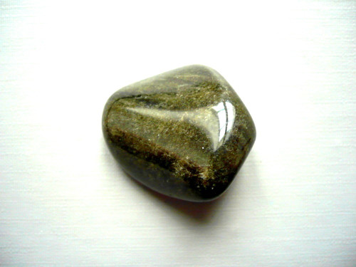 Trom. kámen - zlatý obsidián 27 mm, č.22