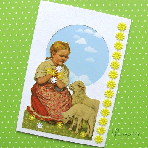 Pásla ovečky ... -  přání