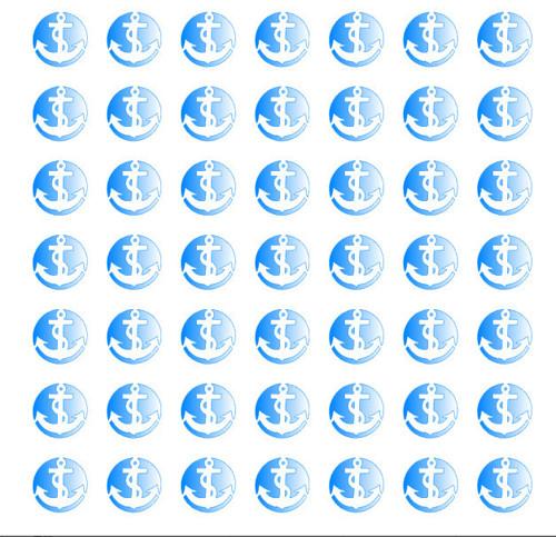 Kotvičky v kroužku šablonka č.57