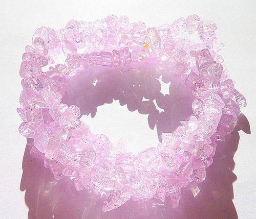 ***100ks*** Praskačky zlomky 5-10mm světle růžová