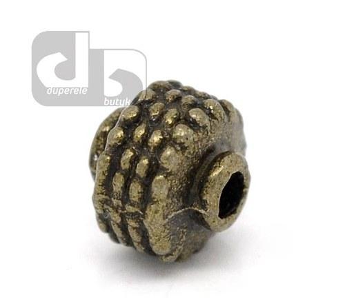 Bronzové korálky - ozubené kolo 2 ks