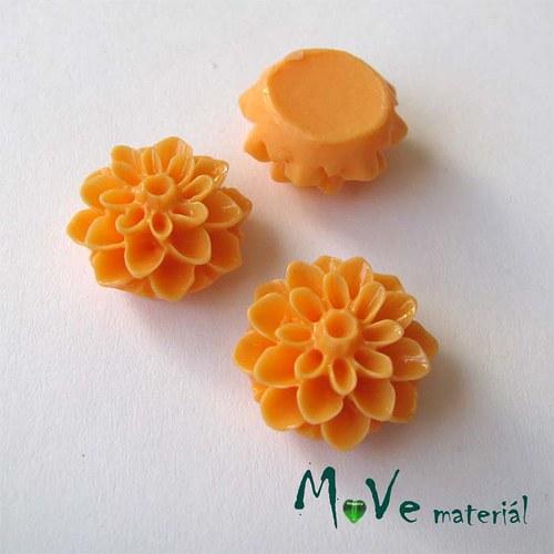 Kabošon květ lesklý A7 - resin - 2ks, sv. oranžový